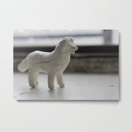 Clay Dog Metal Print