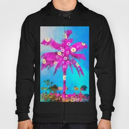 Pink Flowers in a Palm Hoody