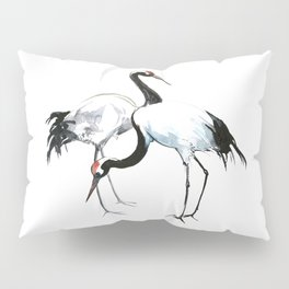 Japanese Cranes Pillow Sham