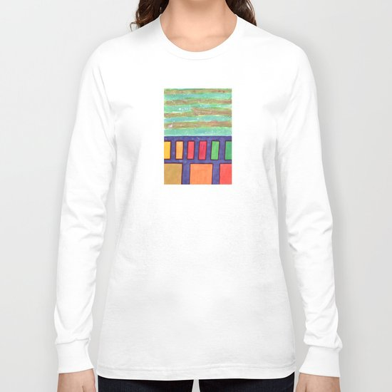 Building with colorful Windows Long Sleeve T-shirt