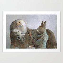Creature and Healer Art Print