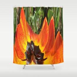 493 - Abstract Flower Design Shower Curtain