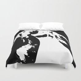 Black & White English Lop Duvet Cover