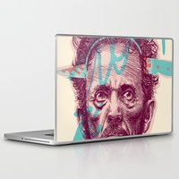tom selleck Laptop & iPad Skins featuring Tom Zé by Arthur d'Araujo