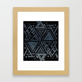 Trifectangles v.2 Framed Art Print