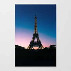 Eiffel Tower at Sunset Canvas Print