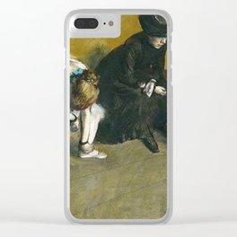 Edgar Degas Waiting Clear iPhone Case