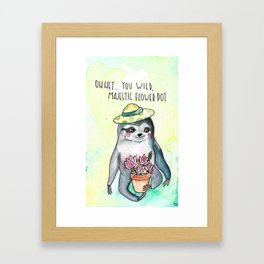 Slothisms Framed Art Print
