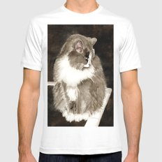 Winston the Cat MEDIUM White Mens Fitted Tee