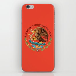 Mexican seal on Adobe red iPhone Skin
