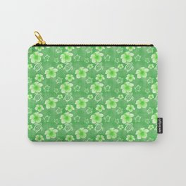 Green Hibiscus Honu Hawaiian Pattern Carry-All Pouch