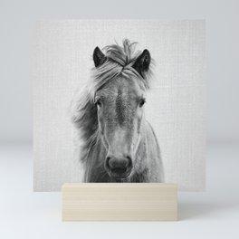 Wild Horse - Black & White Mini Art Print