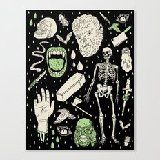 Whole Lotta Horror: BLK ed. Canvas Print