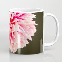 Beautiful colorful peony in vase close side view Coffee Mug