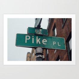 Pike Place - Seattle, WA Art Print
