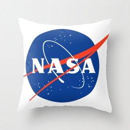 NASA logo Space Agency Astronaut Throw Pillow