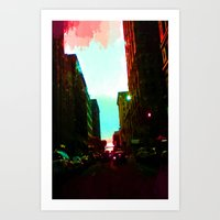 detroit Art Prints featuring Detroit by Casalmon