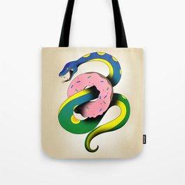 Donut Snake Tote Bag