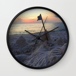 Sandcastle Sunset Wall Clock