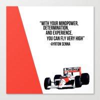 senna Canvas Prints featuring Senna Inspriation by MDBDESIGN.
