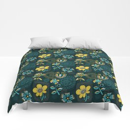 Flowers and embroidery frames Comforters
