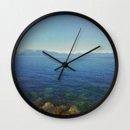 Front lake view Wall Clock