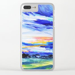 Evening on the farm Clear iPhone Case