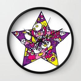 PINK STAR Wall Clock
