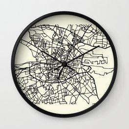 DUBLIN Ireland City Street Map Wall Clock