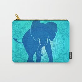 Turquoise Elephant  Carry-All Pouch