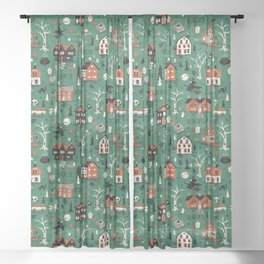Salem Witches Sheer Curtain