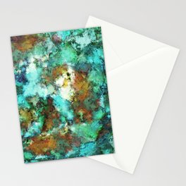 Turquoise terrain Stationery Cards