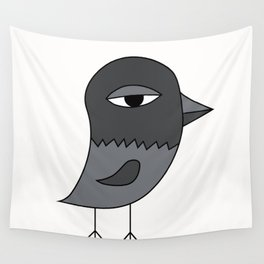 Big Eye Pigeon Wall Tapestry