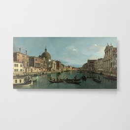 A View of the Grand Canal by Canaletto Metal Print