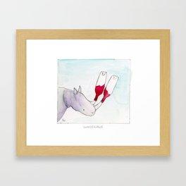 Winosaurus Framed Art Print