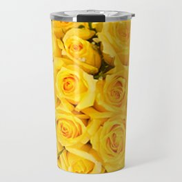 YELLOW ROSES CLUSTERED Travel Mug
