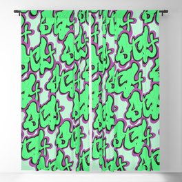 Stay Graffiti Pattern - Slime Green Blackout Curtain