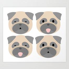 Pug Bleps Art Print