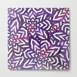 I don't need to improve - Purple and pink Metal Print