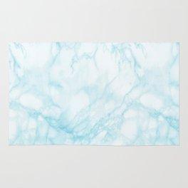 Elegant pastel blue white modern marble Rug