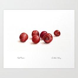 Red Plums Art Print
