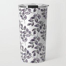 Black on white watercolor twigs. Travel Mug