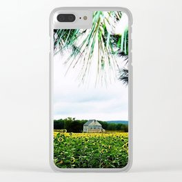Sunflowers through the Sunset Pines by Jéanpaul Ferro Clear iPhone Case