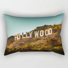Hollywood Sign Rectangular Pillow