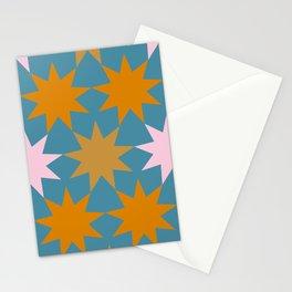 big stars big dreams pattern 1.1 Stationery Cards