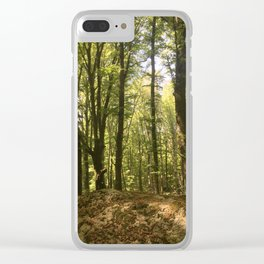 summer forest Clear iPhone Case