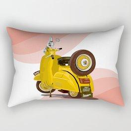 Vespa Vector yellow Rectangular Pillow