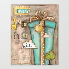Every Day is a Gift - a collage by Diane Duda Canvas Print