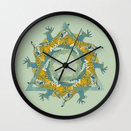 tiger and deer Wall Clock