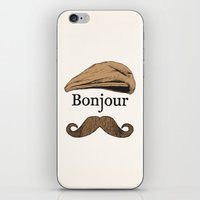 bonjour iPhone & iPod Skins featuring Bonjour by Jacob Waites